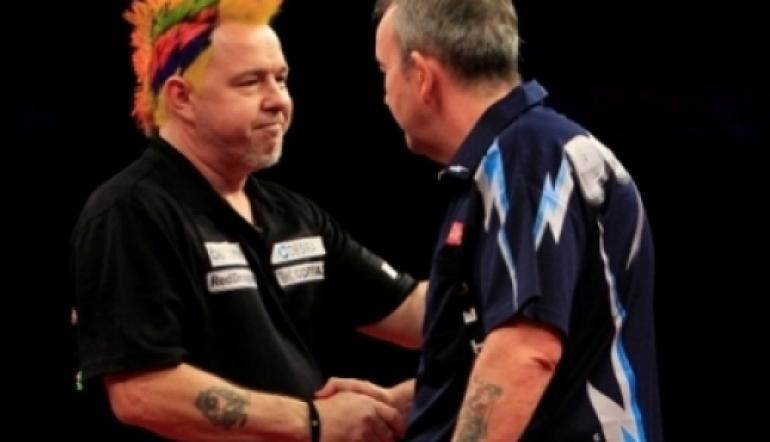 Darts - Phil taylor and Peter Wright