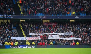 Football Fans protest at ticket prices